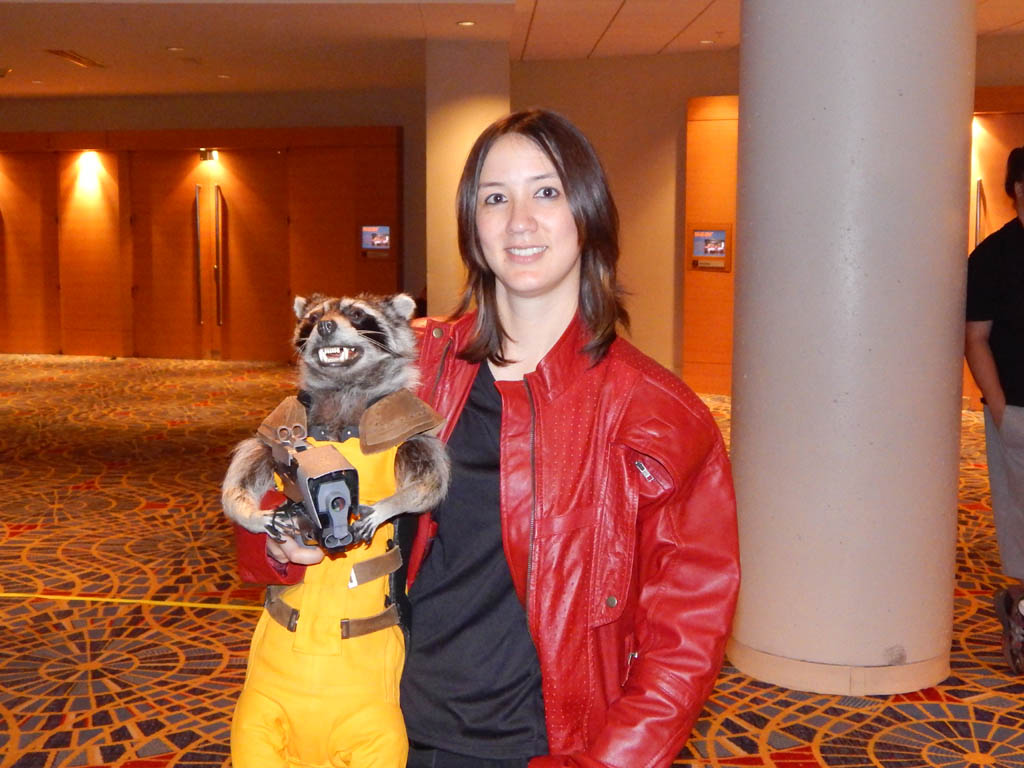 Girl with Rocket Raccoon