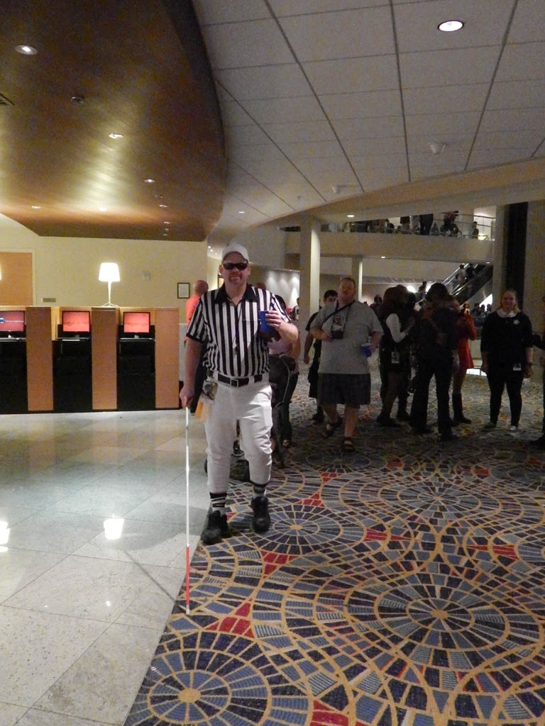 Blind Referee (who somehow knew I was taking his picture)