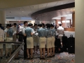Not cosplay, just a bunch of IRL flight attendants in my hotel.