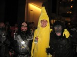 Me with a giant banana and a gorilla