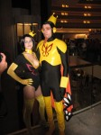 The Monarch with Dr Mrs the Monarch (formerly Dr Girlfriend) from the Venture Brothers