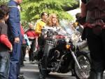 Klingon woman on motorcycle