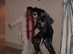 Elvis and Gene Simmons (Kiss)
