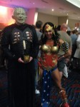 Pinhead from Hellraiser with Wonder Woman