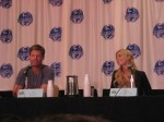 Joel Gretsch and Laura Vandervoort of V