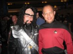 Me with a Starfleet commander